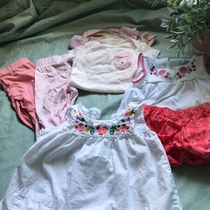 Carters girls size 9 month lot